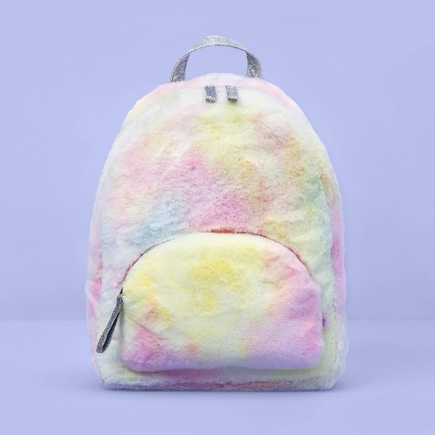 Girls' Tie-Dye Faux Fur Backpack - More Than Magic™ - image 1 of 3