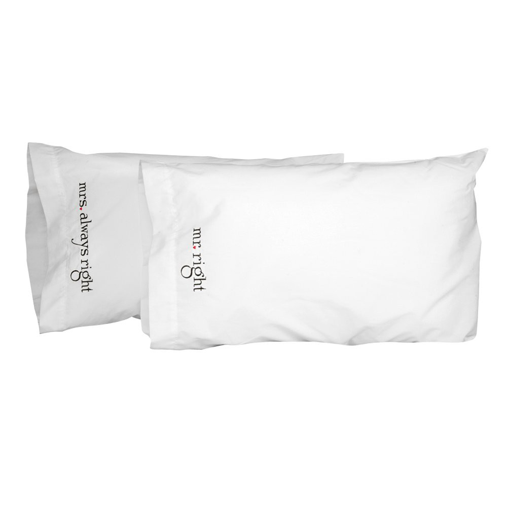 34 Mr And Mrs 34 Right Pillowcase Set