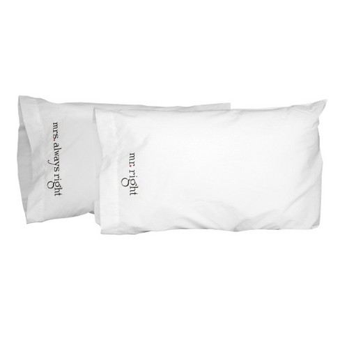 """""""Mr. and Mrs"""" Right Pillowcase Set - image 1 of 1"""