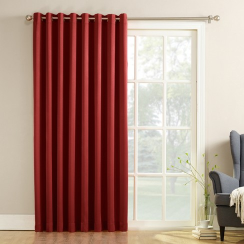 Seymour Extra Wide Energy Efficient Patio Door Curtain Panel Brick