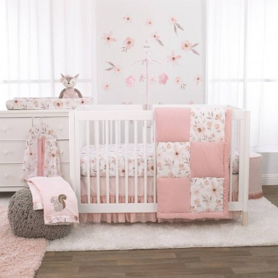 Nojo Countryside Floral Nursery Crib Bedding Set - 4pc