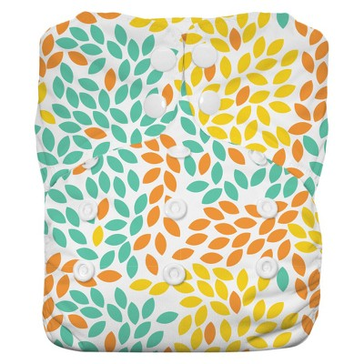 Thirsties All-in-One Snap Reusable Diaper, One Size - Fallen Leaves