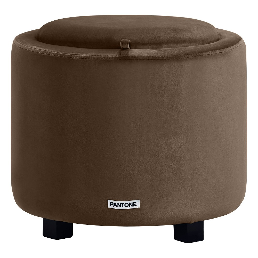 Image of Pantone Color Collection Short Storage Stool Brown - Pantone