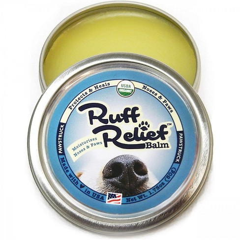 Pawstruck Ruff Relief Organic Nose & Paw Balm for Dogs | Natural, Made in USA Dry Cracked Skin Soother | Snout & Foot Pad Moisturizer - 1 Tin(s) - image 1 of 4