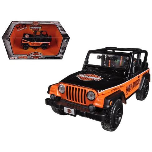 Jeep Wrangler Rubicon Harley Davidson Orange/Black 1/27 Diecast Model by Maisto - image 1 of 1