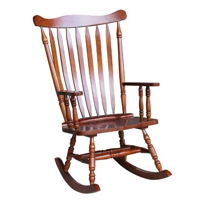 Rocking Chair Solid Wood Cherry - International Concepts : Target
