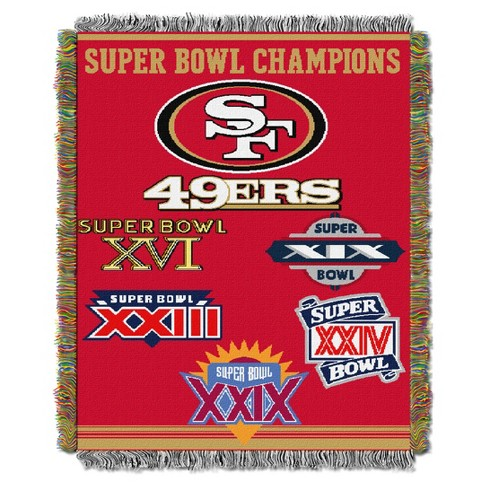 NFL Northwest Commemorative Super Bowl Woven Tapestry Throw - image 1 of 1