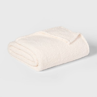 Full/Queen Sherpa Bed Blanket White - Room Essentials™