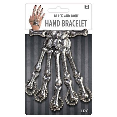 Adult Skeleton Bracelet Black and Bone Accessory Halloween Costume