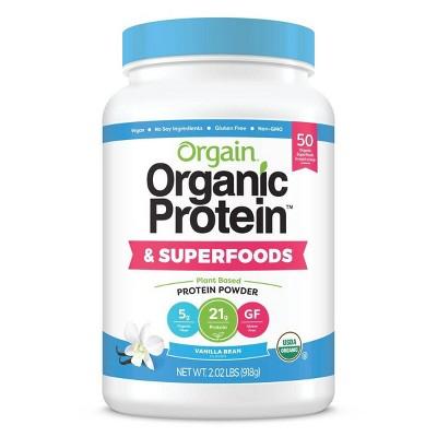 Orgain Organic Protein + Superfoods Plant Based Powder - Vanilla Bean - 2lbs