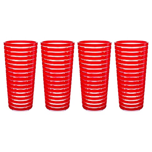 11.5oz 4pk Plastic Highball Tumblers Red - Zak Designs - image 1 of 1