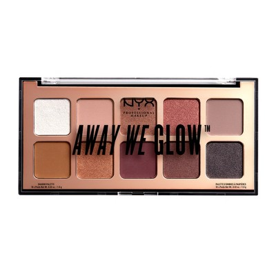 NYX Professional Makeup Away We Glow Shadow Palette - 0.35oz