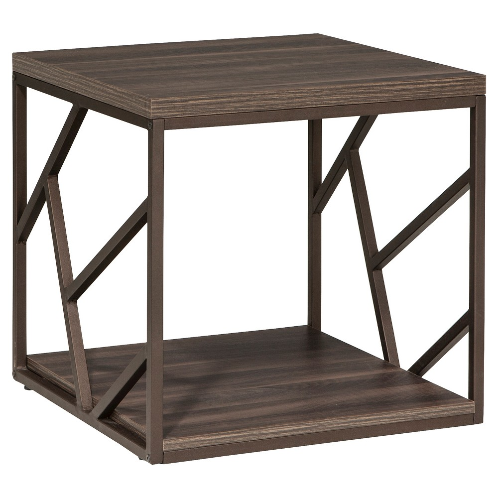 Lifestyles Studio Living Collection, End Table, Weathered Dark Gray Finish - Intercon