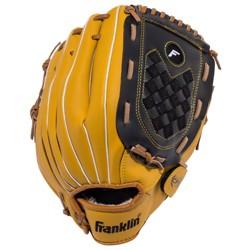"Franklin Sports Softball Slowpitch 13"" Glove Fieldmaster - Brown/Black"