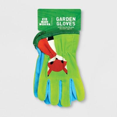 Forest Friends Gardening Gloves Green One Size - Kid Made Modern