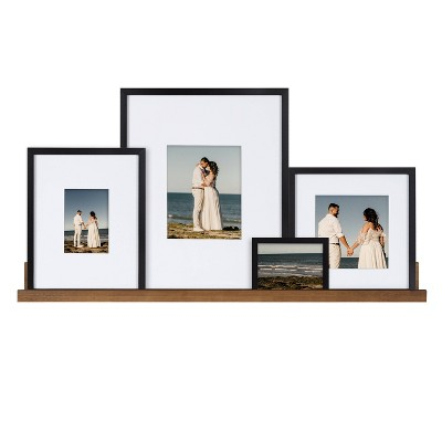5pc Gallery Frame Box Set Rustic Brown - Kate & Laurel All Things Decor
