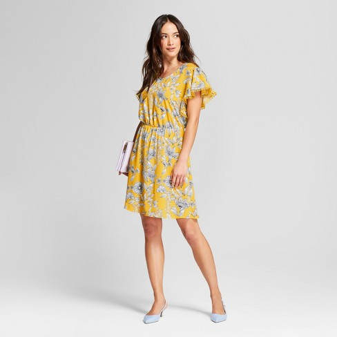 2fe96424ae2d7 Women's Floral Ruffle Sleeve Dress - A New Day™ : Target