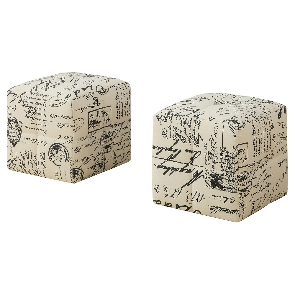 Image of 2pc Kid's Ottoman Vintage French Fabric - EveryRoom
