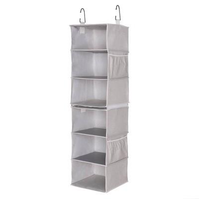 StorageWorks (Set of 2)3-Shelf Hanging Closet Organizers Gray