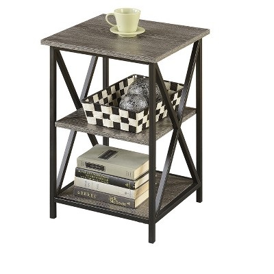 Tucson 3 Tier End Table   Weathered Gray   Johar Furniture