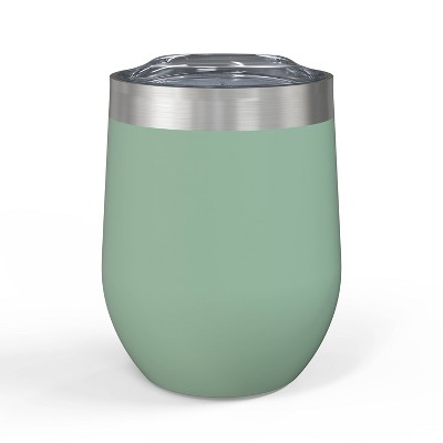 Zak! Designs 11.5oz Double Wall Stainless Steel Wine Tumbler - Leaf