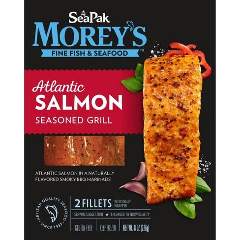 Sea Pak Morey's Atlantic Salmon Seasoned Grill - Frozen - 8oz - image 1 of 1