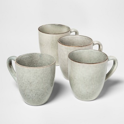 11oz Solene Stoneware Mug Gray/White - Project 62™
