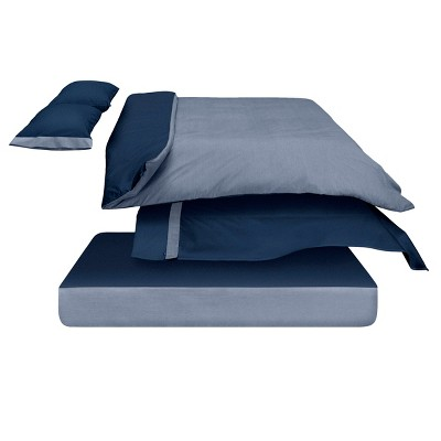 The Casper Duvet Cover - Full/Queen Navy