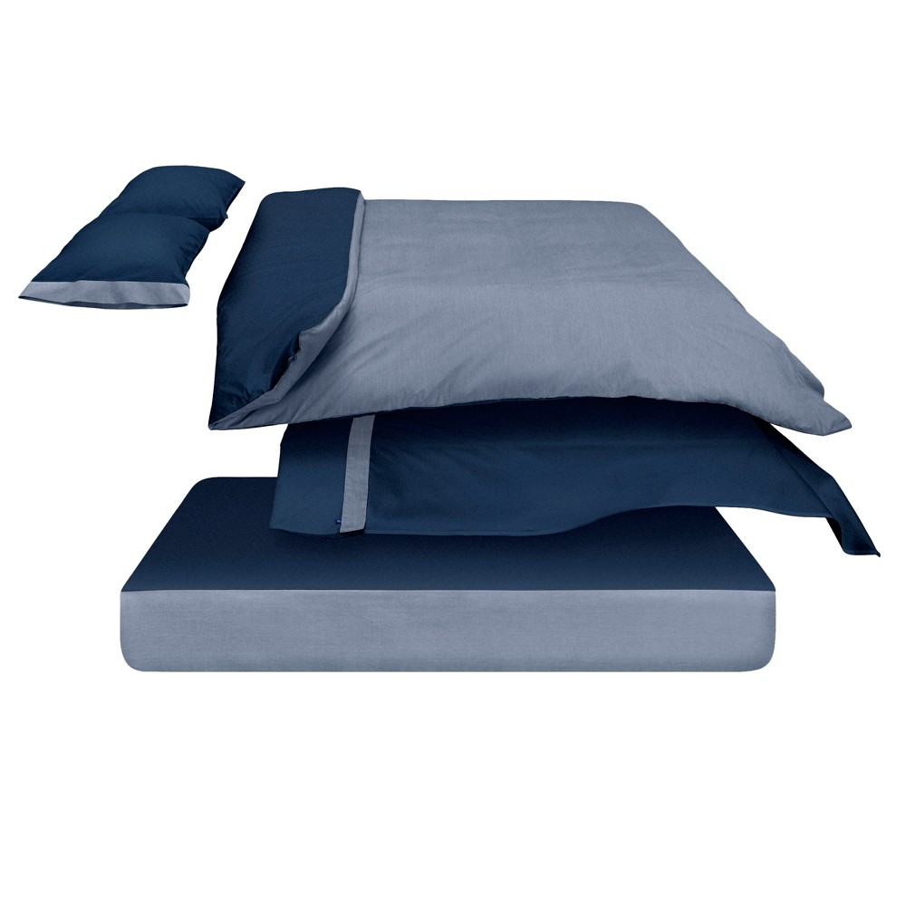 The Casper Duvet Cover - Twin/Twin Extra Long Navy (Blue)