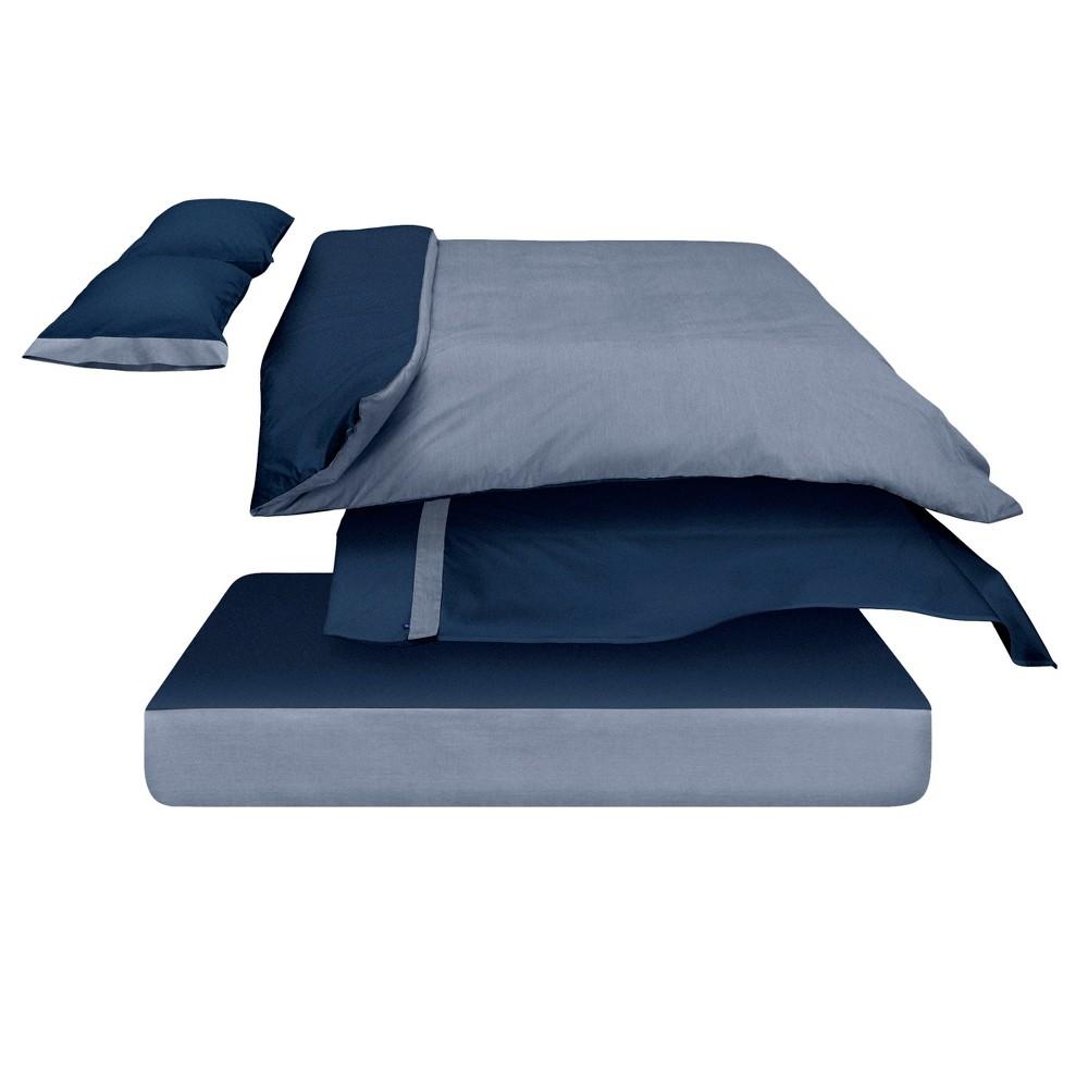 The Casper Duvet Cover - Full/Queen Navy (Blue)