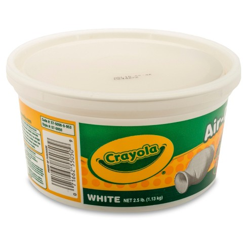 Crayola® Air Dry Clay 2.5lbs White : Target