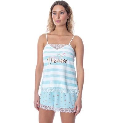 Disney Women's Sleeping Beauty Fierce Dreamer Lace Cami Pajama Set