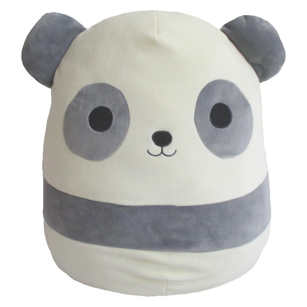 Squishmallows Panda Stuffed Animal, White Grey
