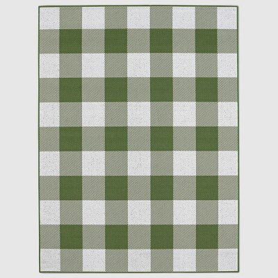 Buffalo Plaid Green Outdoor Rug - 30 x50  - Threshold™