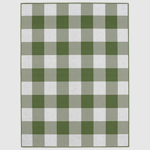 30 Quot X 50 Quot Buffalo Plaid Outdoor Rug Green Threshold