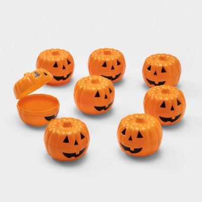 8ct Orange Printed Scavenger Hunt Halloween Fillable Pumpkins - Hyde & EEK! Boutique™