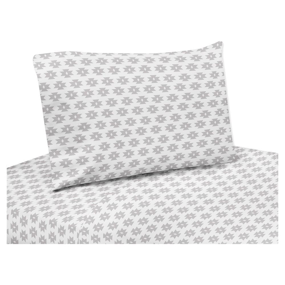 Gray & White Polka Dot Sheet Set (Twin) - Sweet Jojo Designs