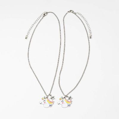 Girls' 2pk Unicorn with Star Charm Necklace - Cat & Jack™