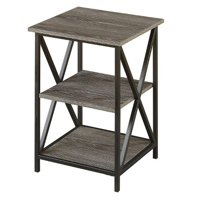 Tucson 3 Tier End Table - Weathered Gray - Johar Furniture
