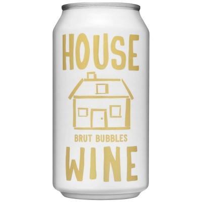 House Wine Brut Bubbles Sparkling White Wine - 375ml Can