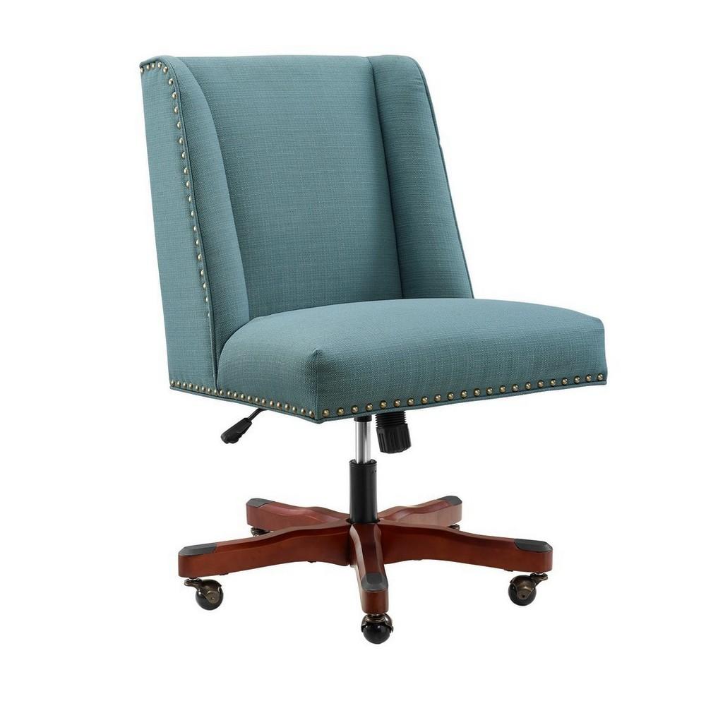 Draper Office Chair Blue - Linon