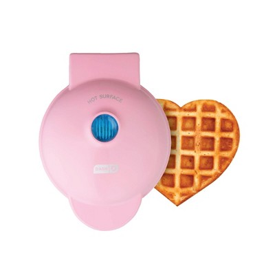 Dash Heart Shaped Waffle Maker Pink