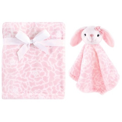 Hudson Baby Unisex Baby Plush Blanket with Security Blanket - Bunny One Size