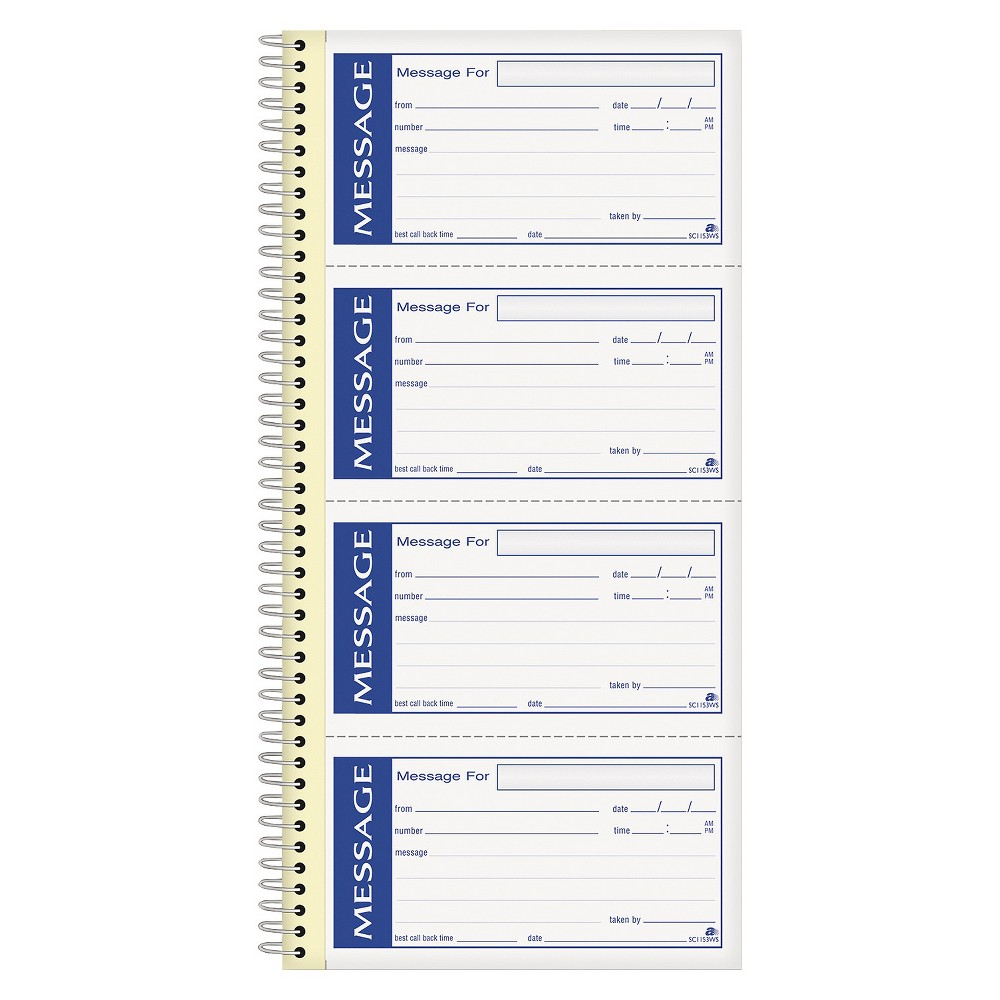 Adams Business Forms Write 'n Stick Phone Message Pad, 2 ...