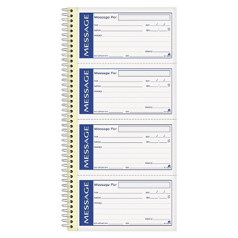 Adams Business Forms Write 'n Stick Phone Message Pad, 2 3/4 x 4 3/4, Two-Part Carbonless, 200 Forms - image 1 of 1