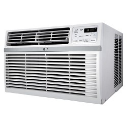 LG - 12000-BTU 115V Window-Mounted Air Conditioner with Remote Control - White
