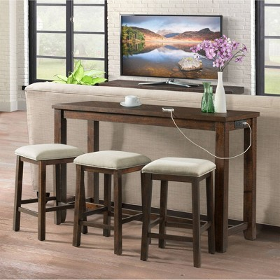 Dex Multipurpose Bar Table Set Dark Walnut - Picket House Furnishings