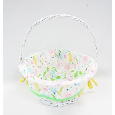 """12"""" Willow Easter Basket with Floral Print Liner - Spritz™"""