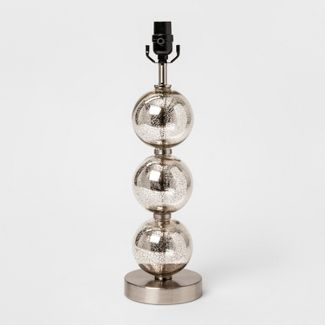 Large Stacked Glass Ball Table Lamp Base Nickel - Threshold™