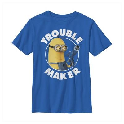 Boy's Despicable Me Minion Trouble Maker T-Shirt